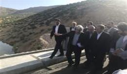 The Opening cermony of Zemkan Dam by Dr.Isaq Jahangiri ( First vice president)